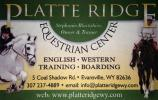 Platte Ridge Business Card