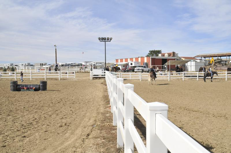 Two Arenas being used at our horse show 10-15-2011