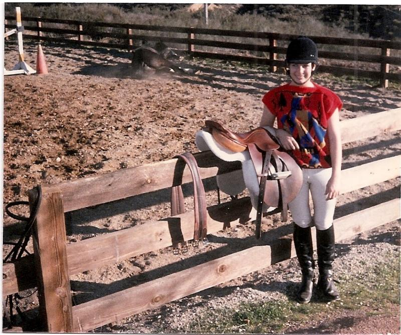 Stephanie with Her First English Saddle at 15 Years Old