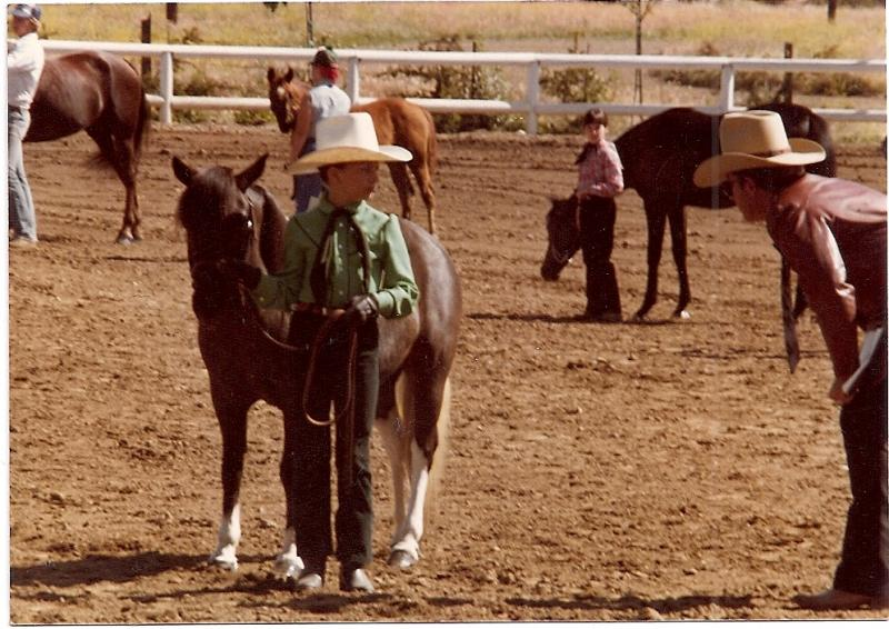 Stephanie Showing her Pony at 10 1/2 years old
